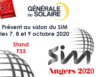 Générale du Solaire présent au salon SIM 2020 à Angers !