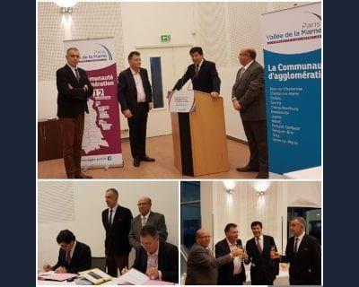 Signature officielle de la promesse de bail pour la centrale solaire de Courtry (77)
