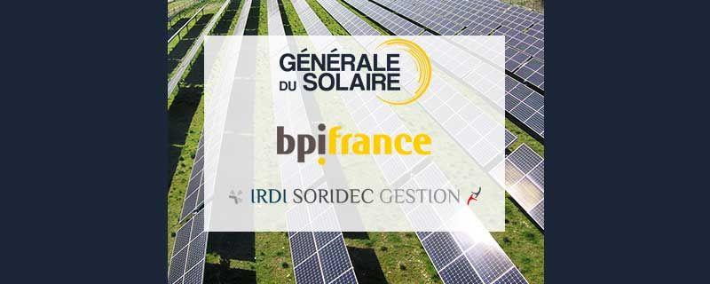 Le Groupe Générale du Solaire ouvre son capital à Bpifrance et Irdi Soridec Gestion pour accélérer sa croissance