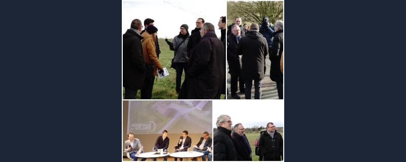Forum Energie au Louvre-Lens, Générale du Solaire témoigne sur le projet photovoltaïque sur l'ancien centre d'enfouissement de Leforest (62)