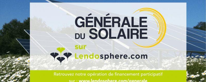 Le groupe GÉNÉRALE DU SOLAIRE propose aux citoyens d'investir dans le photovoltaïque grâce au financement participatif