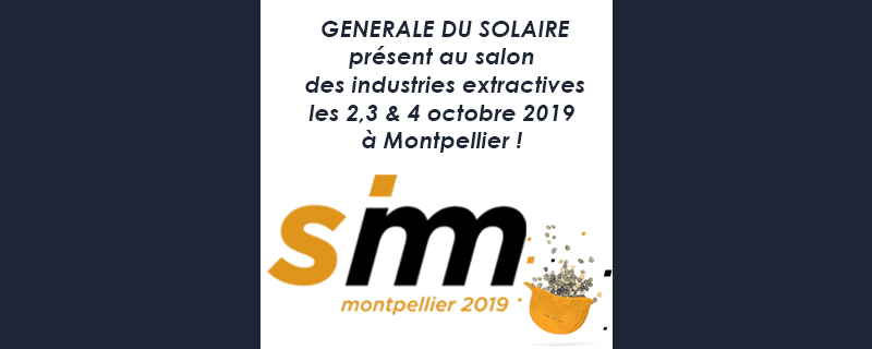 Générale du Solaire présent au salon SIM 2019 !