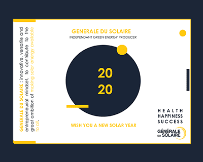 Générale du Solaire's team wishes you a solar year for 2020 !